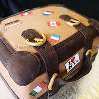 Luggage cake - Enjoy your trip to marriage !