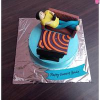Relaxing man cake