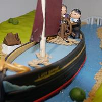 Funeral cake, river barge down the river orwell - lady daphne