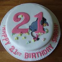 Eeyore birthday cake