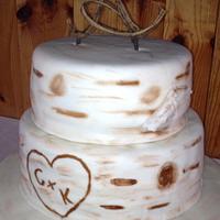 Birch Tree Wedding Cake by Sara's Cake House