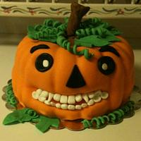 Pumpkin Cake for Our Dentist
