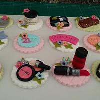 Girly cupcake toppers