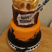 Bow hunter's birthday cake