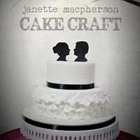 Classic Silhouette wedding cake