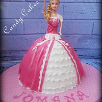 Doll pink cake :)
