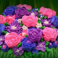 Bouquet flowers cake