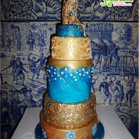 Klimt's Kiss inspired cake