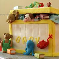 Toybox Cake with Children's book characters