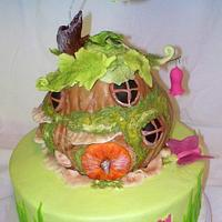 Tinkerbell House Cake