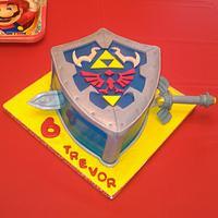 Trevor's special Legend of Zelda cake