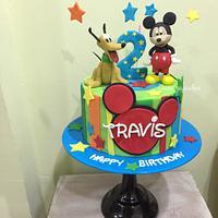 Mickey and Pluto cake