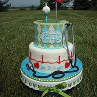 Golfing Doctor's 60th Birthday Cake & Cupcakes