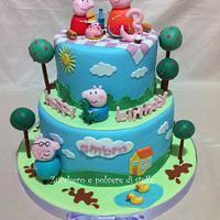 Peppa Pig Birthday Cake by Zucchero e polvere di stelle