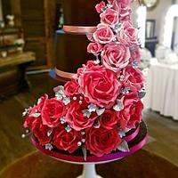 x Autumn Roses Illusion Cake x