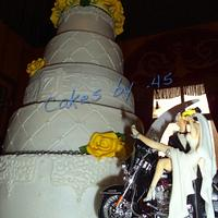 Sunshine & Motorcycle Wedding Cake