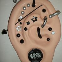 Pierced Ear Cake