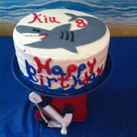 Birthday Shark Cake
