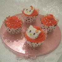 'Hello Kitty' Cupcakes.