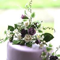 Pretty Purple Wedding Cake