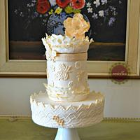 Fashion-inspired couture cake - The Red Carpet Collab
