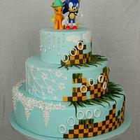 Sonic the Hedgehog Wedding Cake