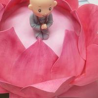little boy on the lotus