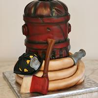 Firefighter's groom's cake