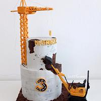 Concrete construction cake