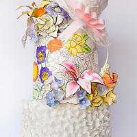 The Easter Bonnet- Easter Coloring Book Cake Collaboration