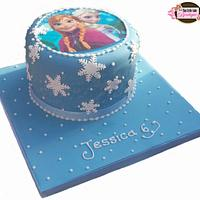 Frozen Printed Topper Cake