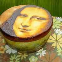 Handpainted Monalisa cake