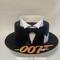 Bond themed cake