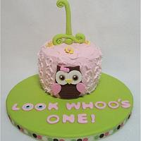 Look Whooo's One by Toni (White Crafty Cakes)