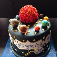 Birthday cake for an astrologist