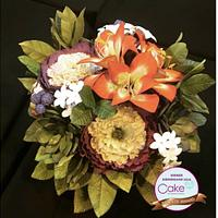 Sugar Flower Arrangement- Bronze Award