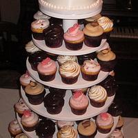 25th anniversary cupcake display
