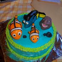 Finding Nemo cake by californiacakes