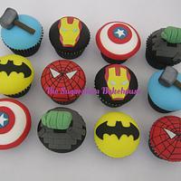 Marvel / DC Superhero Cupcakes by Sam Harrison