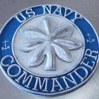 Navy cake topper