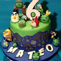 Angry Birds cake for Mateo