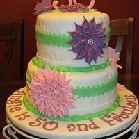 Dahlias for my sister's 50th Birthday!