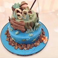 Fisherman's 60th Birthday cake