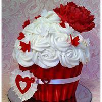 Be Mine!! Giant Cupcake
