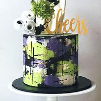 Abstract Buttercream Cake