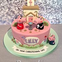 Peppa Pig Christening Cake