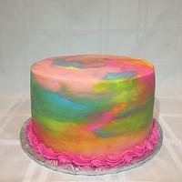 Rainbow Watercolor Cake