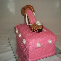 My second gum paste shoe..