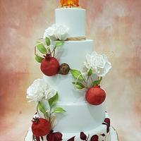 Armenien themed wedding cake