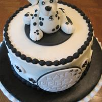 Dalmatian cake by Renee Daly